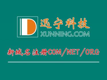 新域名注册COM/NET/ORG